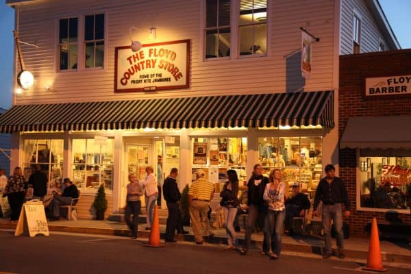 Floyd Country Store at Night